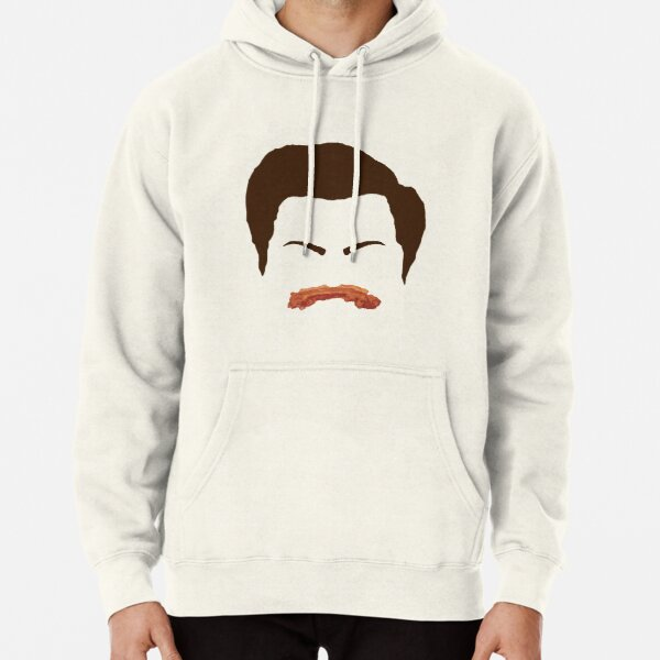 Ron Swanson Bacon Mustache  Pullover Hoodie