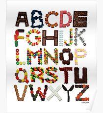 Candy Alphabet Poster