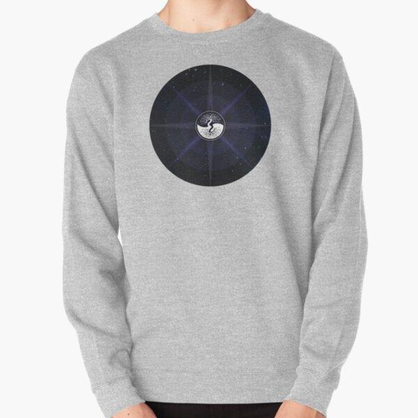 Stars with White Tree of Life Symbol Pullover Sweatshirt