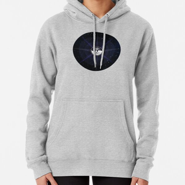 Stars with White Tree of Life Symbol Pullover Hoodie