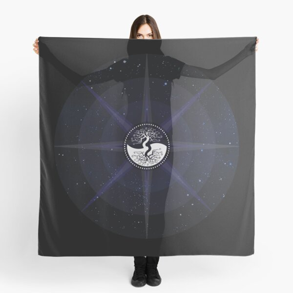 Stars with White Tree of Life Symbol Scarf