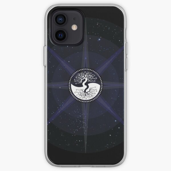Stars with White Tree of Life Symbol iPhone Soft Case