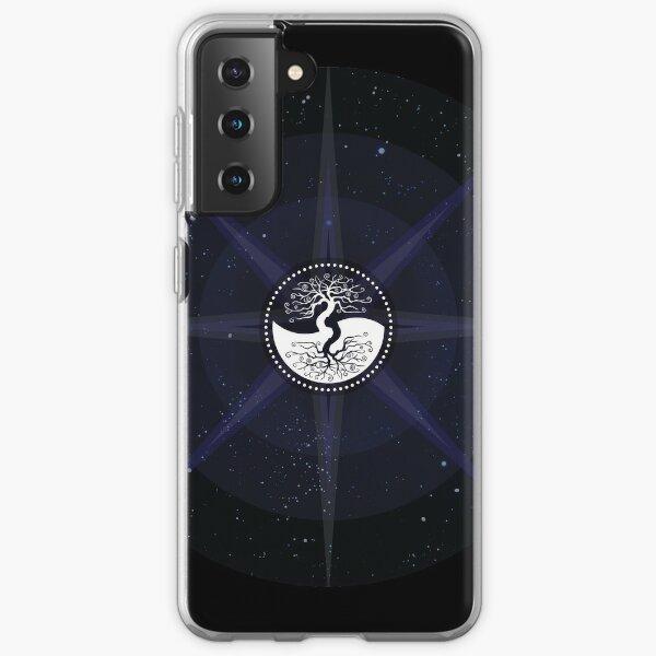 Stars with White Tree of Life Symbol Samsung Galaxy Soft Case