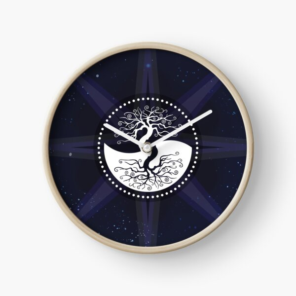 Stars with White Tree of Life Symbol Clock