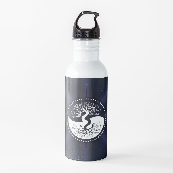 Stars with White Tree of Life Symbol Water Bottle