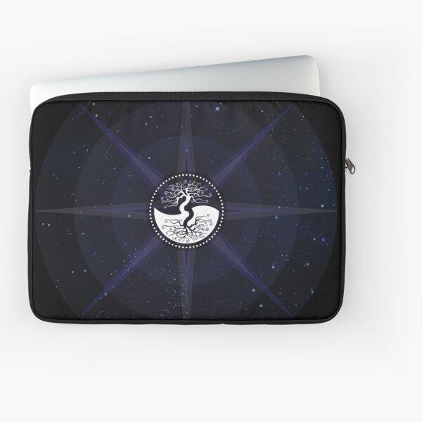 Stars with White Tree of Life Symbol Laptop Sleeve