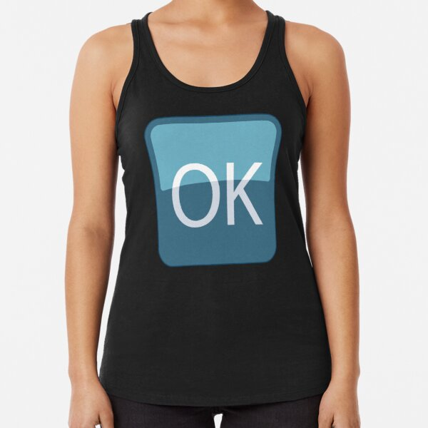 OK Sign Emoji Racerback Tank Top