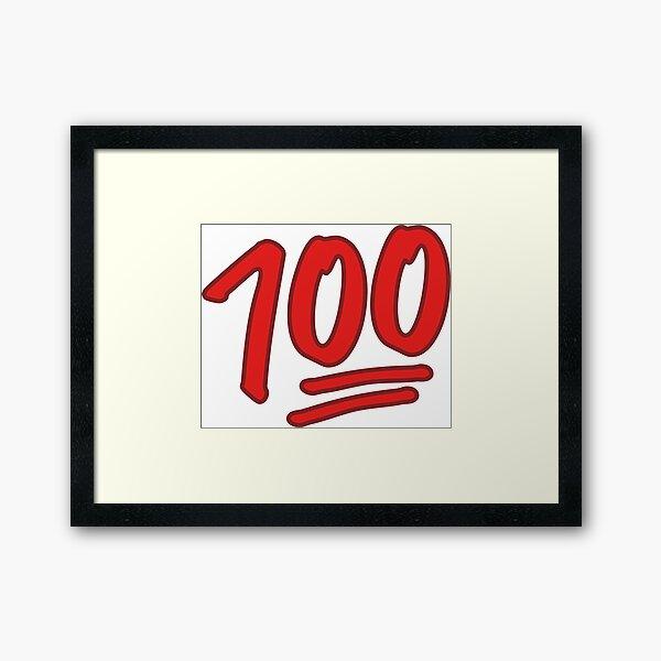 100 Emoji Framed Art Print
