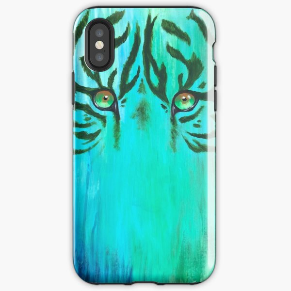 Acrylic Painting of Tiger Eyes iPhone Tough Case