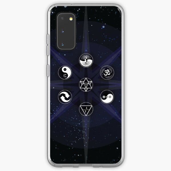Stars with White Universal Principles of Alchemy Symbols Samsung Galaxy Soft Case