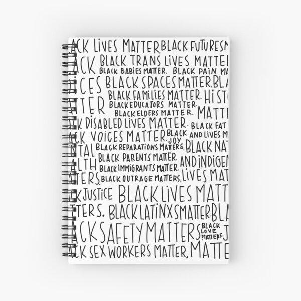 Intersectional Black Lives Matter Art Spiral Notebook