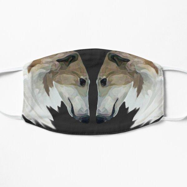 Stunning Borzoi Heads Portrait Flat Mask