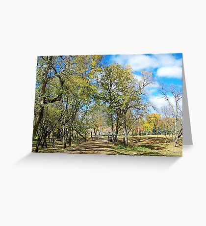 Old Country Road Greeting Card