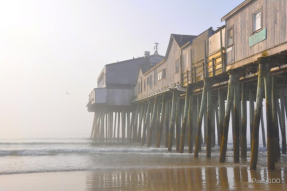Pier Point in the Mist by Poete100