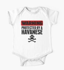 Warning Protected By A Havanese One Piece - Short Sleeve