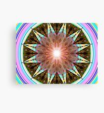 M3D: Art-Deco Cabana Solar Mandala (G0913) Canvas Print