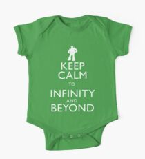 """KEEP CALM TO INFINITY AND BEYOND"" One Piece - Short Sleeve"