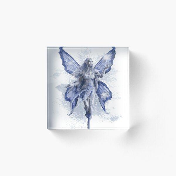 Amy Brown Blue art Acrylic Block