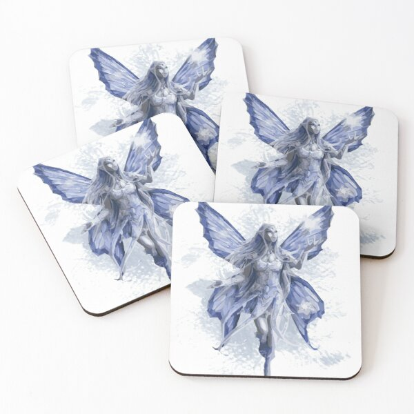 Amy Brown Blue art Coasters (Set of 4)