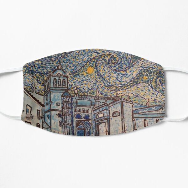 Starry night in the Cathedral of Coria - Spain Flat Mask