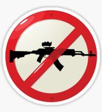 No guns allowed Sticker