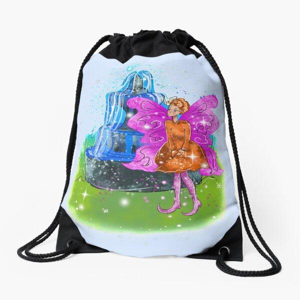 Fatunie The Birdbath and Fountain Fairy™ Drawstring Bag