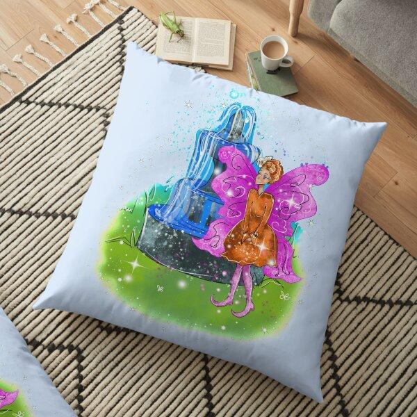 Fatunie The Birdbath and Fountain Fairy™ Floor Pillow