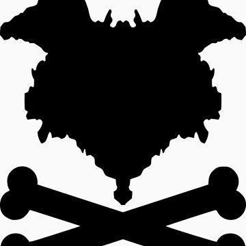 The Blot & Crossbones (Black) by TheBlotSays