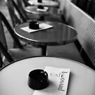 Travel BW - Paris Cafe by lesslinear