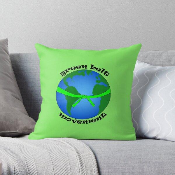 Green Belt Movement Throw Pillow
