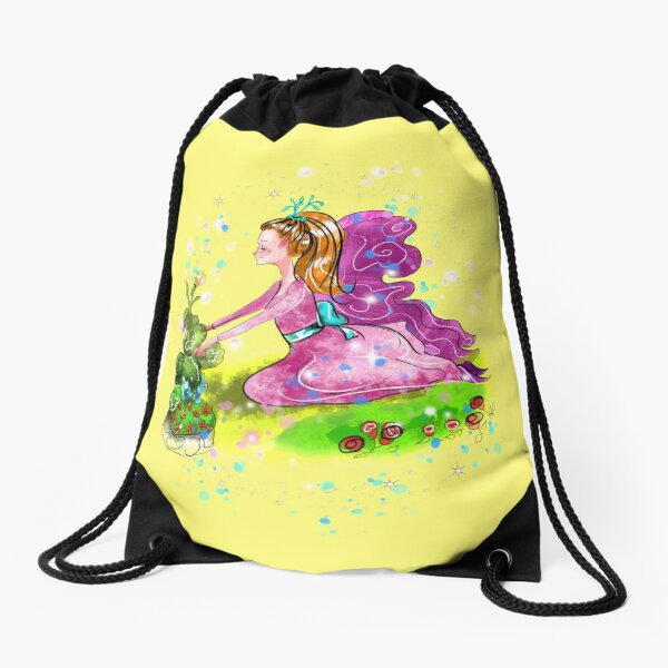 Qiana the Outdoor Gardening Fairy™ Drawstring Bag