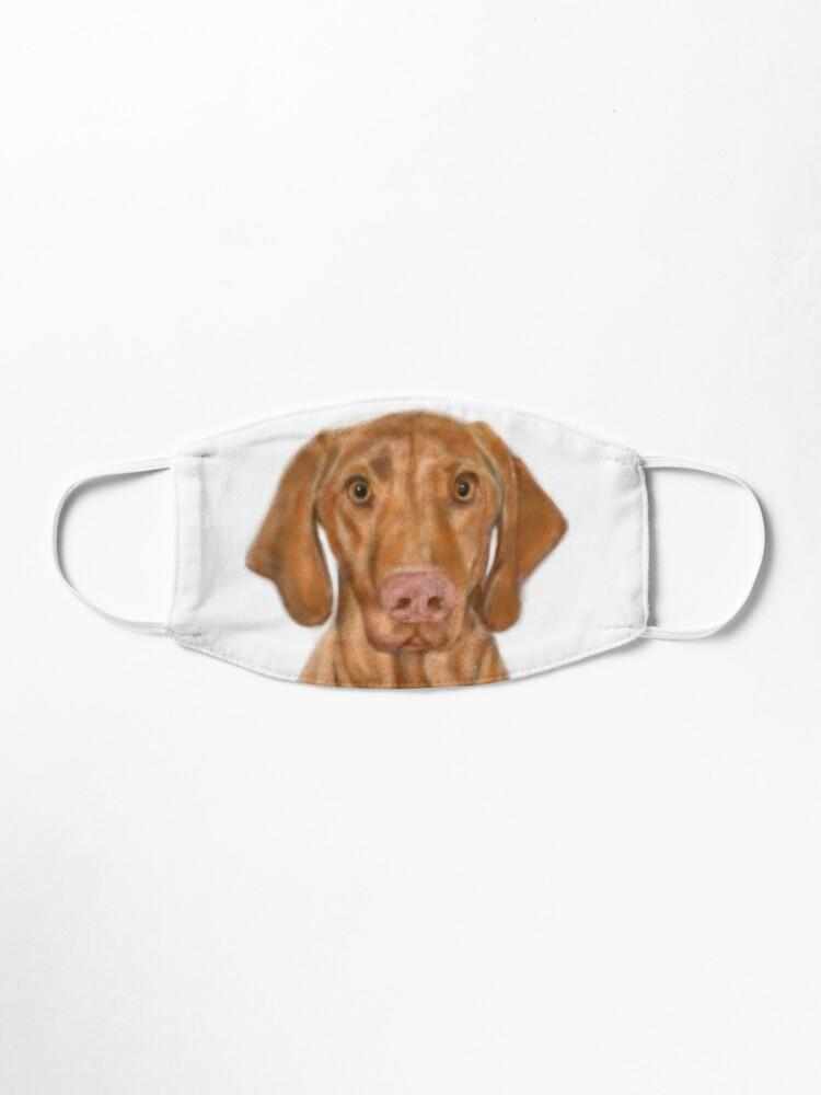 Alternate view of Young Handsome Vizsla Puppy Digital Art  Mask