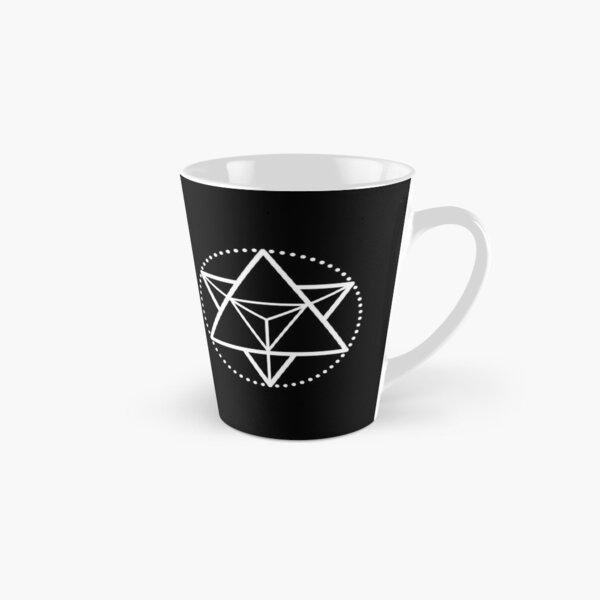 The Principle of Mentalism - White Startetrahedron / Mercaba Tall Mug