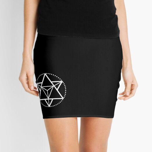 The Principle of Mentalism - White Startetrahedron / Mercaba Mini Skirt