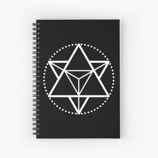 The Principle of Mentalism - White Startetrahedron / Mercaba Spiral Notebook