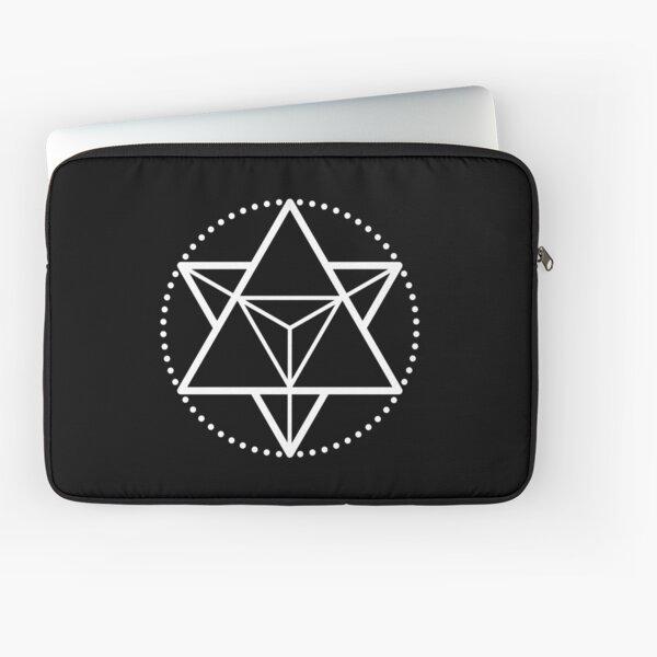 The Principle of Mentalism - White Startetrahedron / Mercaba Laptop Sleeve