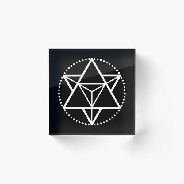 The Principle of Mentalism - White Startetrahedron / Mercaba Acrylic Block