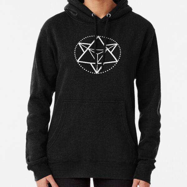The Principle of Mentalism - White Startetrahedron / Mercaba Pullover Hoodie