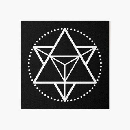 The Principle of Mentalism - White Startetrahedron / Mercaba Art Board Print