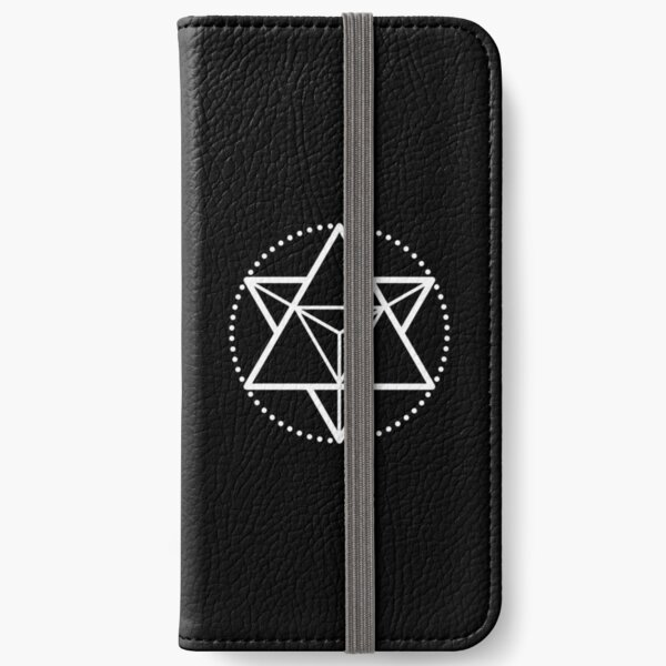 The Principle of Mentalism - White Startetrahedron / Mercaba iPhone Wallet