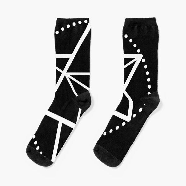 The Principle of Mentalism - White Startetrahedron / Mercaba Socks