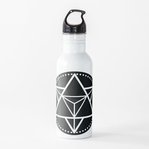 The Principle of Mentalism - White Startetrahedron / Mercaba Water Bottle
