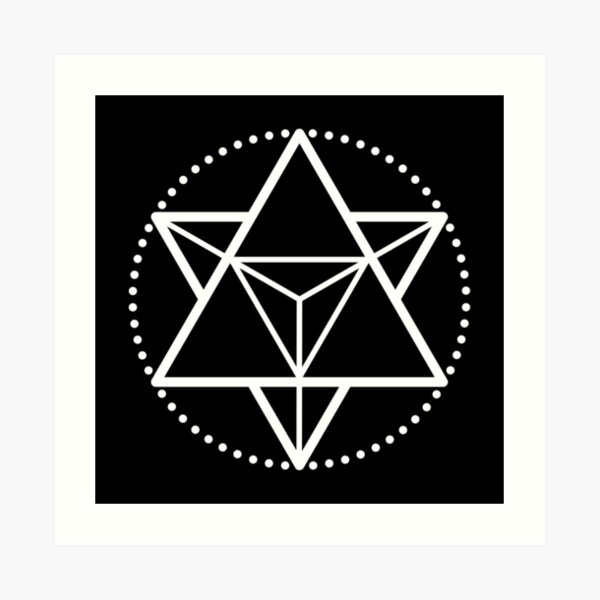 The Principle of Mentalism - White Startetrahedron / Mercaba Art Print
