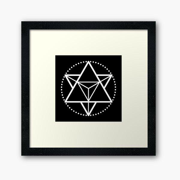 The Principle of Mentalism - White Startetrahedron / Mercaba Framed Art Print