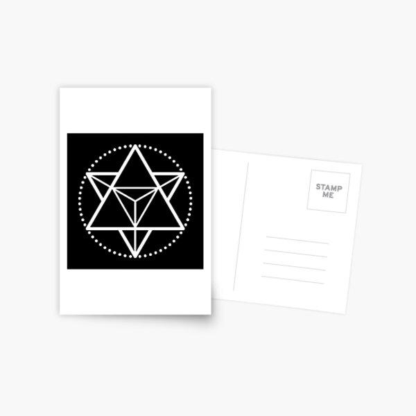 The Principle of Mentalism - White Startetrahedron / Mercaba Postcard