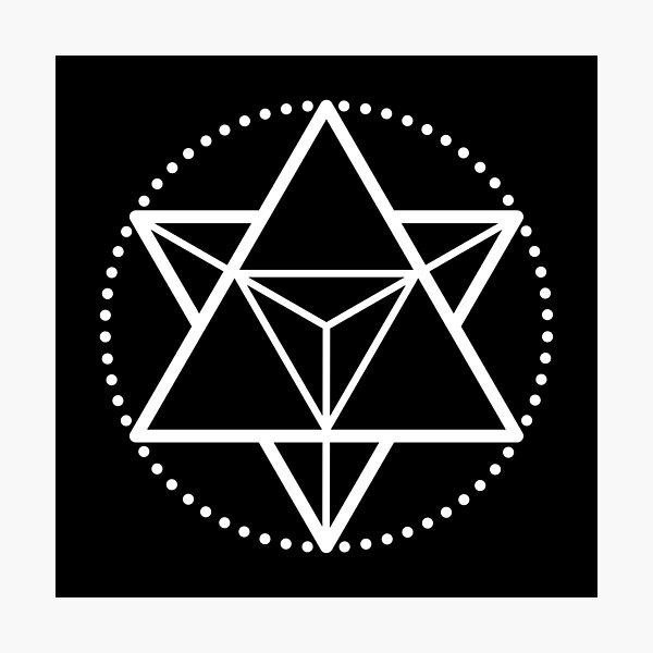 The Principle of Mentalism - White Startetrahedron / Mercaba Photographic Print