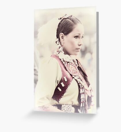 Native Beauty Greeting Card