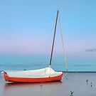 The Little Red Boat - Victoria Point Qld Australia by Beth  Wode