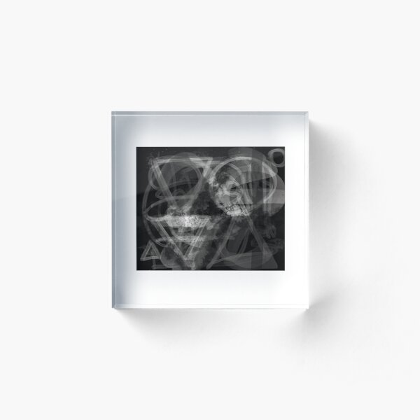 "Olga's ""VOVA X-Ray"" with White Frame Acrylic Block"