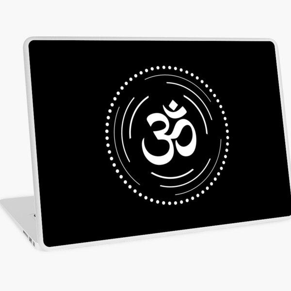 The Principle of Mentalism - White Startetrahedron / Mercaba Laptop Skin